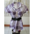 Purple Checkered Blouse