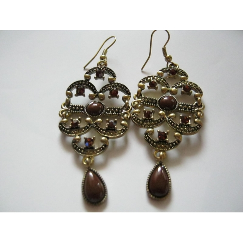 Brown Cambodian Earrings
