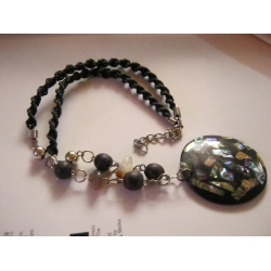 Black Multi Beaded Necklace