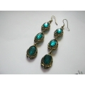 Green Cambodian Earrings