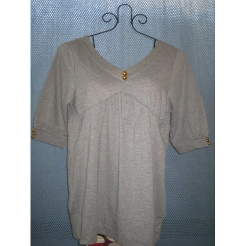 3/4 Sleeve Gray Blouse