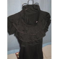 Ruffled Black Blouse