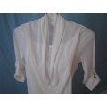 White 3/4 Sheer Blouse